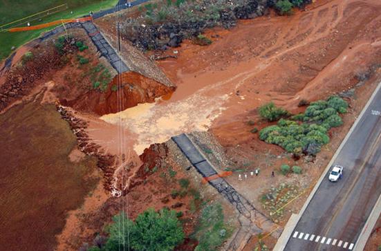 Image of Laub Dam Breach 2012