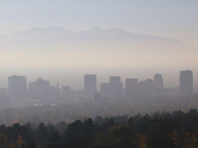 Image of smog over Salt Lake City