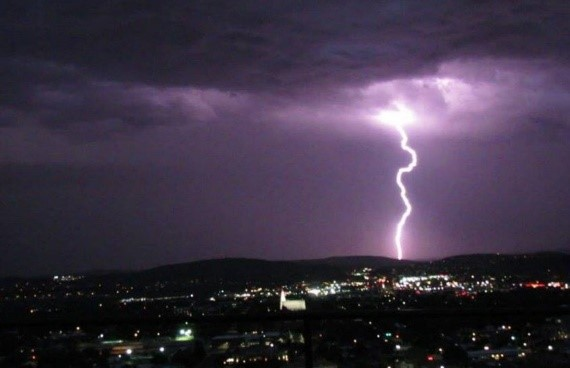 St. George, UT lightning strike