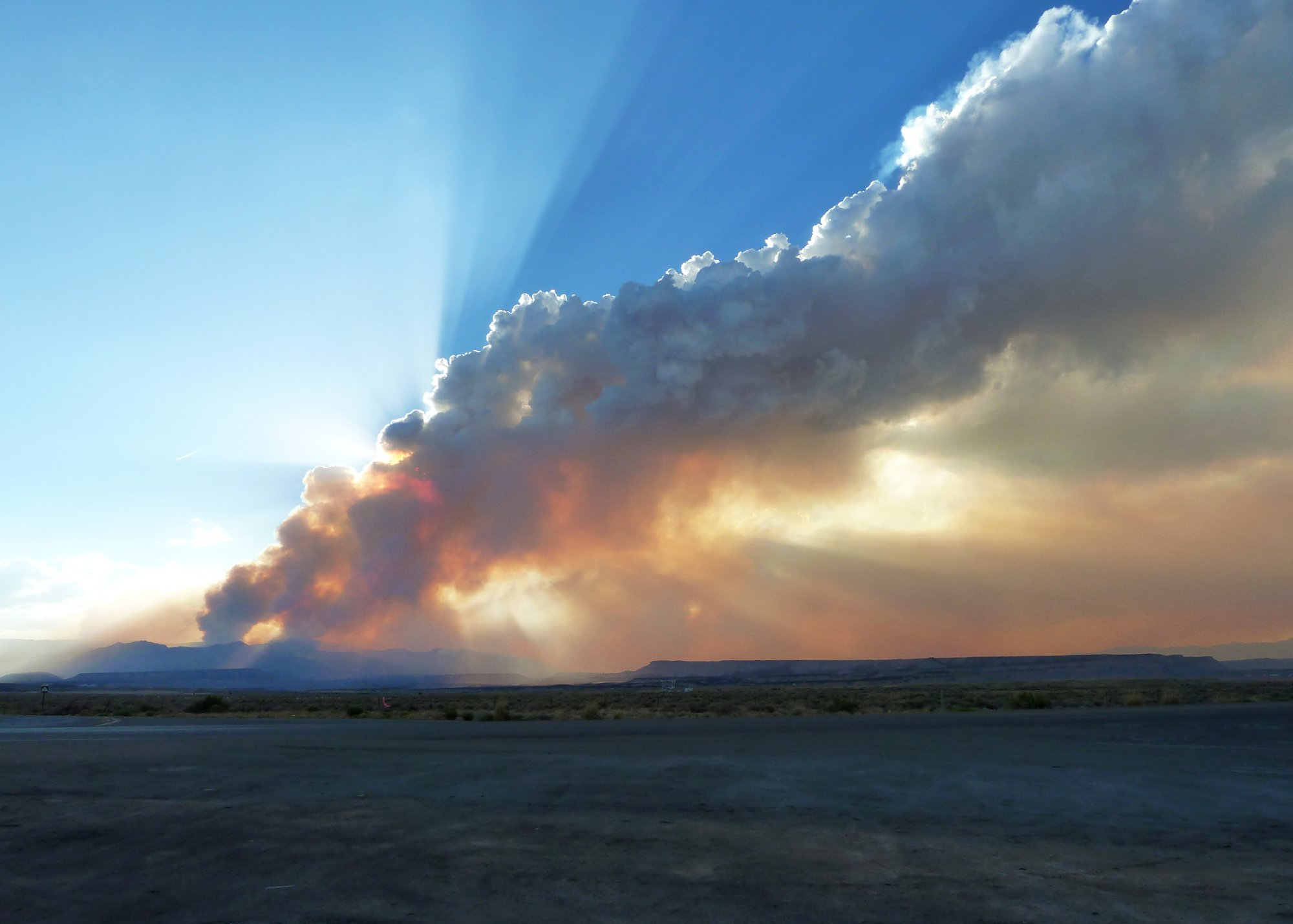 Seeley fire near Emery County's Huntington Canyon 2012